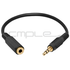 "6 Inch 3.5mm 1/8"" Stereo Audio Aux Headphone Cable Extension Cord M to F MP3"