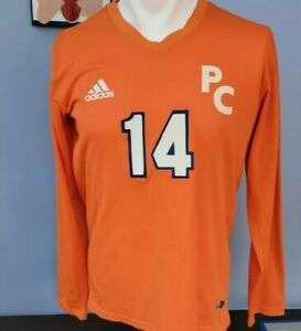 Vintage SUNY Purchase Woman's Adidas Volleyball Orange Long Sleeve Jersey XL