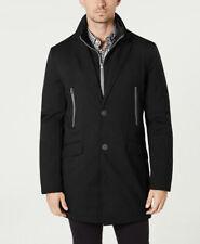 $395 Tommy Hilfiger Mens Black Modern Fit Robert Raincoat...