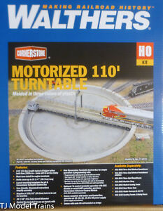 """Walthers HO #933-2851 Motorized 110' Turntable -- Assembled - 16-7/16"""" 41.7cm OD"""