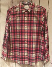 Vineyard Vines Women's Pink Plaid Relaxed Button Down Size 2