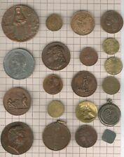 lot of 20 items, Varia médailles jetons monnaie et divers
