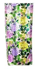 SCARF Long Yellow Lavender Pink Fuchsia Green SPRING & SUMMER ROSES