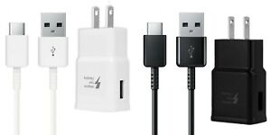 Adaptive Fast Charging Type C Cable + Wall/Travel Charger Adapter USB-C Cord