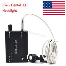 Black LED Head Light Lamp  for Dental Surgical Medical Binocular Loupes FDA A+