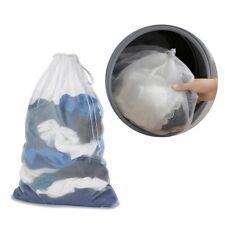 Mesh Laundry Bag Large Washing Net Drawstring Clothes Organizer Household Supply