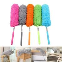 Small Microfibre Duster Cleaning Telescopic Handle Feather Brush Extendable T2P9