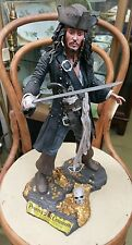 Pirates of the Caribbean Jack Sparrow figure limited edition 1000 needs repair