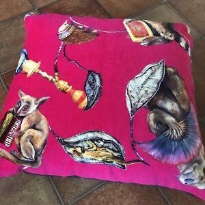 """House of Hackney Cushion Cover Velvet """"Empire"""" in Vibrant Pink Handmade"""
