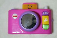 Fisher-Price Laugh & Learn Click 'n Learn Camera, Pink Baby Toddler Talks Sings