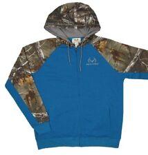 Mens NWT Realtree Camo Hawthorne Sweatshirt Jacket Full Zip Hoodie Blue Size L