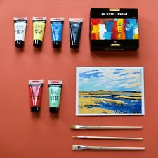 Acrylic Paint Set 100ml*6 Colour, Light Resistant Non Toxic -PENCILMARCH