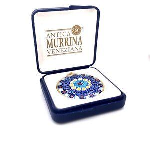 "Estate Designer Antica Murrina Veneziana Art Glass 18"" Necklace w/ Box! 147"