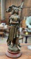 Moreau: statue en régule Jeanne d'Arc 64 cm