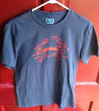 J. CREW CRAB T SHIRT, BLUE HEATHER, ADULT SIZE SMALL S, NEW NWOT