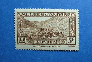 1932 ANDORRA FRENCH 5F SCOTT# 61 MICHEL # 45 UNUSED                      CS26429