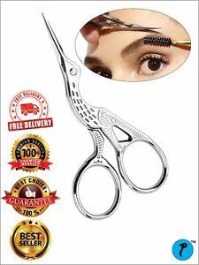 TNR® Eyebrow Scissors Trimmer Hair Makeup Eyelash Remover Stainless Steel Cutter
