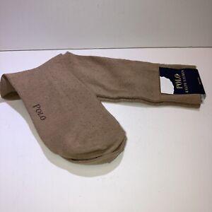Polo Ralph Lauren Women's 1 Pair Sport Trouser Dress Socks Brown Tan New 7-9