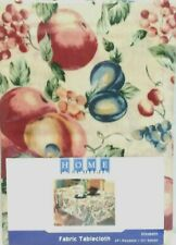 Home Essentials Fabric Tablecloth  Fall Colors Fruit Decor Design 60