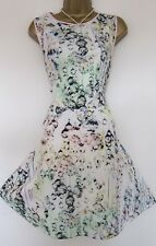 TED BAKER ~Crystal Droplets~ Skater Dress UK 14 4 Party WEDDING White Floral Gem
