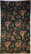 Beautiful 19th Century Exotic French Leaf and Floral Print Fabric (2273)