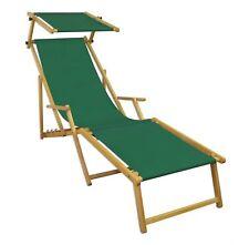 Chaise de Jardin Terrasse Vert Longue Toit Ouvrant Bois 10-304 N pour S