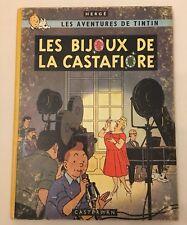 (T19)  HERGE TINTIN - LES BIJOUX DE LA CASTAFIORE - EO BELGE  2e PLAT B34 1963