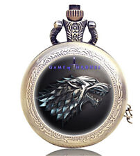 GAME OF THRONES BOOK FILM MOVIE DVD ANTIQUE BRONZE ENGRAVED POCKET WATCH