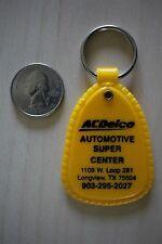 AC Delco Automotive Super Center Longview Texas Yellow Keychain Key Ring #25981