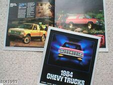 1984 Chevy TRUCKs Brochure / Catalog: VAN, EL CAMINO,PICKUP,BLAZER,