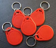NFC Tag 5er Set NTAG 203 keyfob rot Schlüsselanhänger - für ALLE NFC Geräte !!!