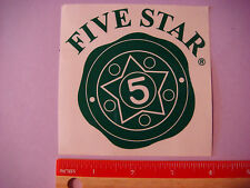 Beer STICKER: Five Star (Brewery) Chemicals & Supplies ~ Commerce City, COLORADO
