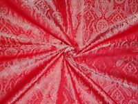 "BROCADE FABRIC Light Gold,Ivory & Red 44""BRO351[4]"