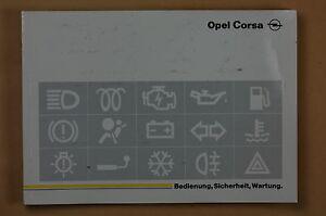 Bedienungsanleitung Betriebsanleitung Opel Corsa 1995