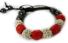 Kids Shamballa Bracelet Crystal Disco Ball Beads Adjustable Wrist Band Children