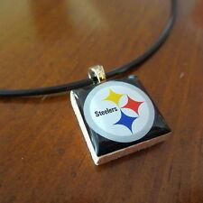 PITTSBURGH STEELERS NFL LOGO TILE CHARM PENDANT NECKLACE LifeTiles fan jewelry