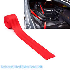 Universal Red Harness 3 Point Retractable Car Van Racing Safety Front Seat Belt