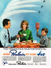 PUBLICITE ADVERTISING 015  1965  POULAIN  petit déjeuner chocolaté JET