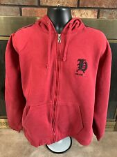 Vintage 90's Tommy Hilfiger Hooded Sweatshirt Spellout Mens Size Large Full Zip