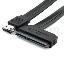 1pcs Dual Power eSATA USB 12V 5V Combo to 22Pin SATA USB Hard Disk Cable Adapter