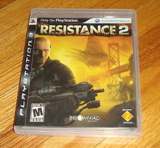 Resistance 2 Sony Playstation 3 PS3 Complete