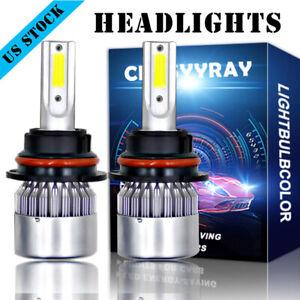 2X 9007 LED Bulbs Headlight For Peterbilt 386 2007-2014 384 08-15 337 2010-2015