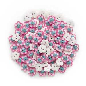50pcs Flower Resin Buttons for Sewing Scrapbooking Cloth Home Making Decor 12mm
