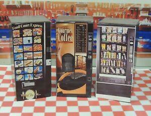THREE Vending Machines  1:24 G Scale Diorama miniature!