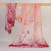 Pretty Long Soft Women Fashion Lucky Bird Chiffon Scarf Wrap Shawl Stole Scarves