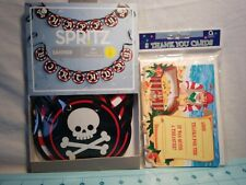 Spritz- Pirate Happy Birthday Banner & Set of 8 Pirate Thank You Cards by Amscan