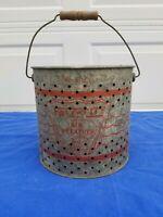 Vintage Falls City Air Breather Galvanized Minnow Bucket,  No. 810 G