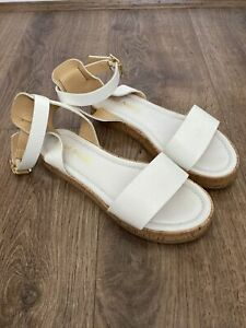 Russell and Bromley White Sandals UK Size 5