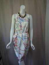 J McLaughlin 100% Silk Print Sleeve Dress size 10/M Excellent