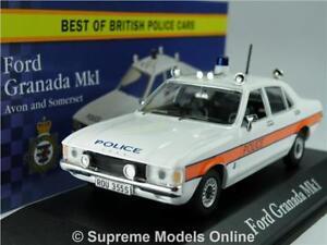 FORD GRANADA MK1 MODEL CAR POLICE AVON & SOMERSET 1:43 CORGI VANGUARDS ATLAS K8